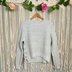 Kimchi Blue Urban Outfitters Lace Up Sweater
